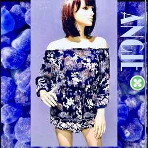 ANGIE • Oriental Print Navy Romper / size (M)